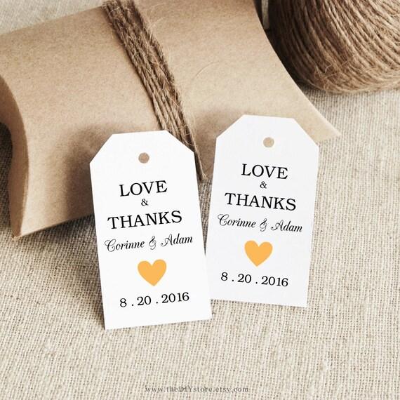 Free Printable Wedding Gift Tags: Items Similar To Favor Tag Printable, Text Editable, SMALL
