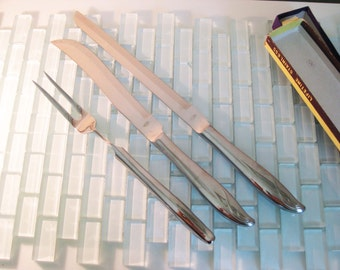 Modern Stainless Serving Fork Knife Set JAPAN