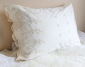 Embroidery Ivory Lace Pillow Sham Cushion Cover Euro Sham