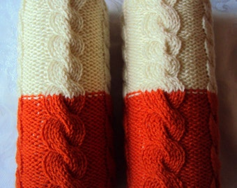 2 In 1 Knit Long Legwarmers Boot Socks Boot Cuffs Cable Knit Boot Toppers