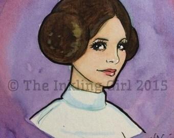 Princess Leia Petite Painting