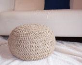 Crochet Pouf Juta Handmade for Miccampbell