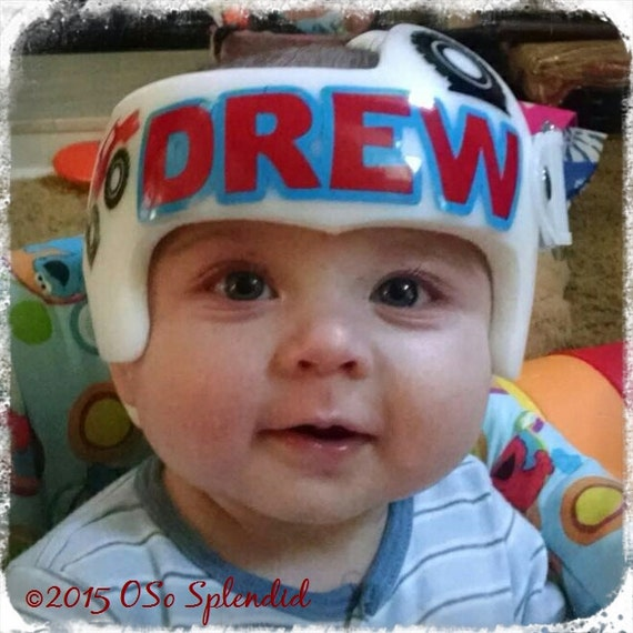 Personalized Cranial Band Decals Monster Truck Fixing My - Baby helmet decalsa family blog that takes you through the experience of a baby with