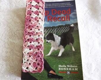crochet bookmark Pink crochet bookmark pink bookmark
