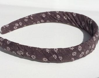 Adult Headband - Brown Daisy - Fabric Headband - Girls Headband - Hair Accessories - Womens Head Bands