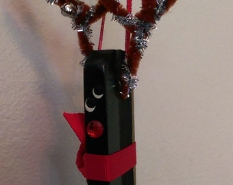 Piano Key Reindeer Ornament