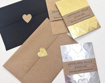 Heart Envelope Seals