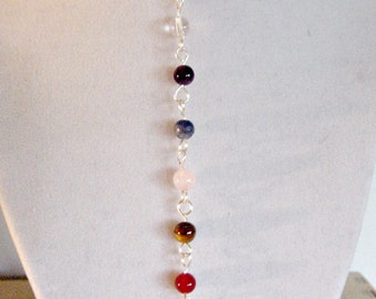 7 Chakra Necklace, Semi Precious, Balance, Harmonize Reiki Jewelry, Chakra Jewellery, Gift Idea