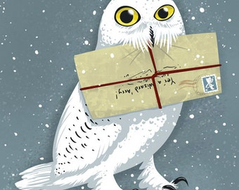 Hedwig Owl 8x10 Harry Potter Art Print