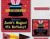 Boy Magic Printable Birthday Party Kit - Boy Magic Themed Birthday Party - DIGITAL DESIGN