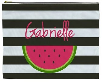 Personalized pool pencil bag - watermelon beach bag
