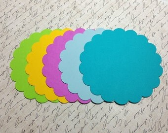 Die Cut Scalloped Circles. 4 inches.  #UV-61