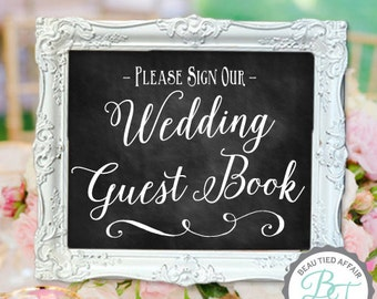 Wedding Guest Book DIGITAL PRINT • Please Sign Our Wedding Guest Book