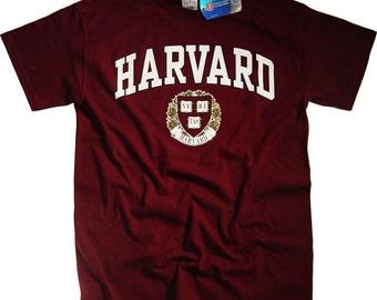 Harvard T Shirt Law College University Crimson Crew NCAA Officially Licensed Harvard Shirt