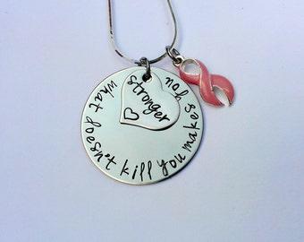 Awareness Ribbon necklace - cancer survivor gift - awareness ribbon jewellery - motivational gift - empowerment jewellery - survivor gift
