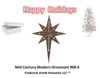 908-4 Mid Century Modern Christmas Ornament