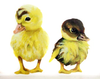 Two little duckling wall stickers/decals bathroom decor