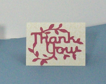 22 Thank You Mini Cards, Mini Cards, Small Thank You Cards, Thank You Cards, Handmade Thank You Cards