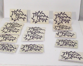20 Thank You Mini Cards, Mini Cards, Small Thank You Cards, Thank You Cards, Handmade Thank You Cards