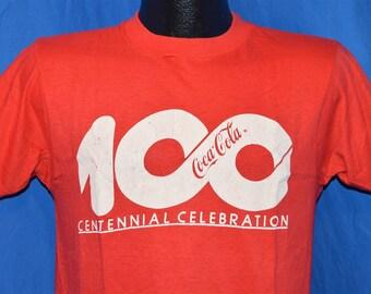 80s Coca-Cola Coke Centennial Celebration Red Vintage t-shirt Medium