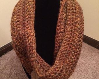 Handmade Crochet Cowl in Autumn