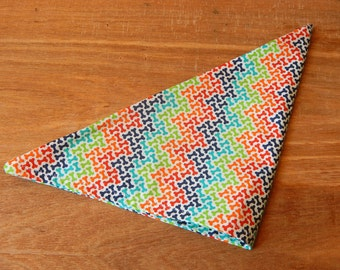 Rainbow Dog Bone Fursuit Pet Bandana With Velcro Stripes Rave Accessory