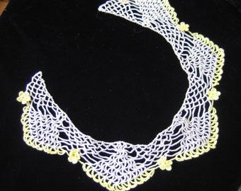 Pretty hand crocheted collar