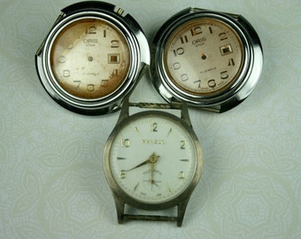 Watches for Steampunk Altered Art - Two Watches Have No Mechanism  Sold As Is (3)
