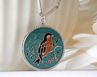 Sarah Coventry Necklace, Bird Necklace, Statement Jewelry