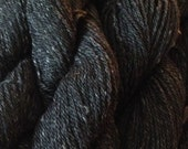 Black Alpaca Cormo Silk Sport Weight Yarn