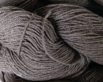 Grey Cormo Angora Silk Lace Weight 3 ply Yarn