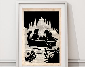 Jack Holiday Haunted Mansion Dictionary Art Print Vintage
