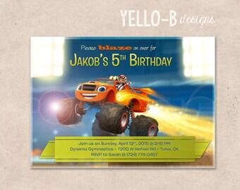Blaze and the Monster Machines Birthday Invitation