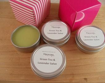 Green Tea and Lavender Salve- Jojoba Oil, Mango Butter