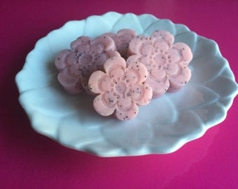 Pink'd Poppy-Sugar Scrubs, Solid Scrubs, Scrub Bars