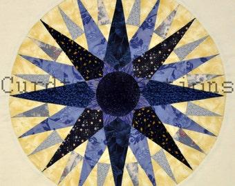 "Mariner's Compass Quilt Print,8""x8""Photo"
