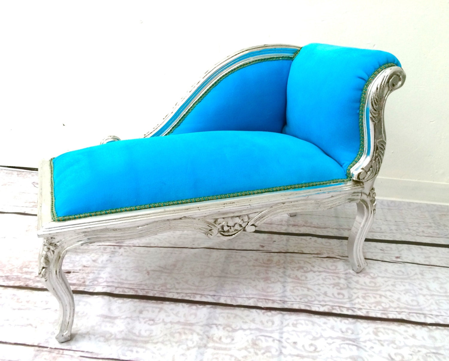 RESERVED French Style Kids Baroque Chaise by TheYellowCanopy