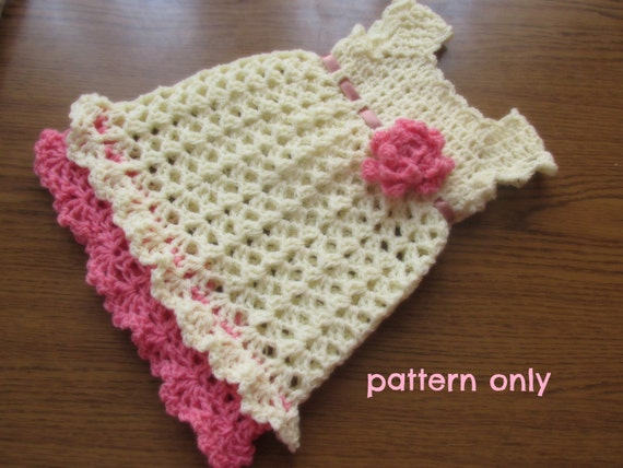 How To Crochet Baby Dress Pattern : handmade baby dress dress pattern infant dress pattern
