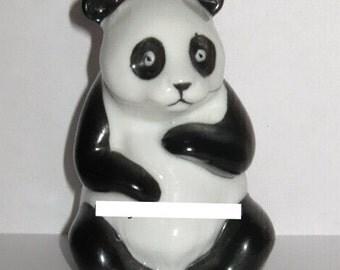 Ceramic Black & White Panda Bear Sitting Animal Figurine