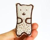 Magic Brooch Brown Bear | Soft Brooch | Lavander Brooch | Handmade Brooch | Embroidery Brooch