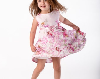 Fairies dress,girls dress,toddler dress,children,summer clothing,little girls dress,pink dress