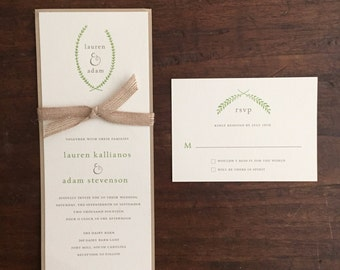Simple Wedding Invitation Suite // Earthy Tones // Purchase this Deposit to Get Started