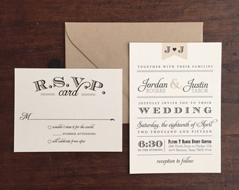 Vintage Wedding Invitation Suite // Neutral Tones // Twine and Burlap // Purchase this Deposit to Get Started