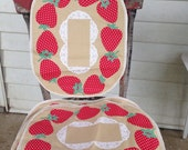Set of 6 Vintage Strawberry Placemats