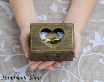Wedding Ring Holder, Ring Bearer , Rustic Ring Pillow, Vintage style