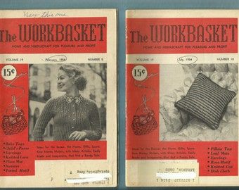 1950's Mid Century Knitted Sweater & Crafts Workbasket Vol 19
