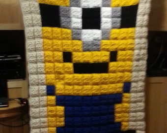 Crochet One Eyed Minion Afghan