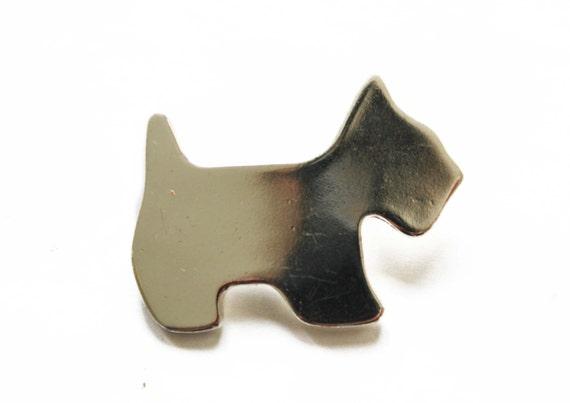 Agatha Paris Silver Scotty Dog Brooch Agatha By Meadowsvintage