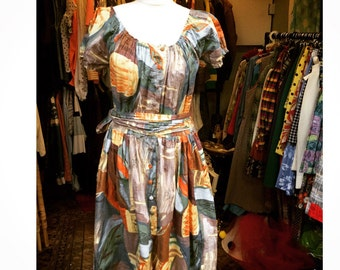 Gorgeous vintage  spring/ summer dress