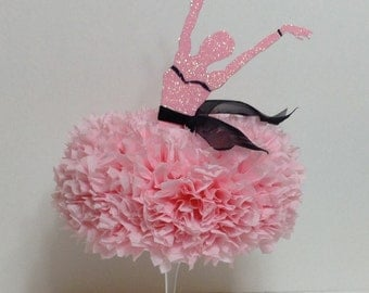 Ballerina Centerpiece - Table Centerpiece - Ballerina Birthday Party - Birthday Party Centerpiece - Ballerina Party - **FREE SHIPPING**